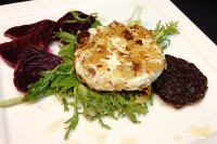 Warm Marcona Almond Crusted Goat Cheese
