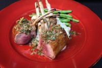 Grilled Double Chop Rack Lamb