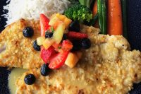 Macadamia Crusted Yellowtail Snapper