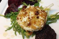 Warm Pistachio Crusted Goat Cheese