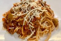 Abbruzzese Lamb Ragu, Spaghetti Chittara